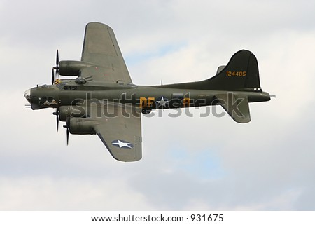 B17 Flying Fortress World War 2 bomber - stock photo