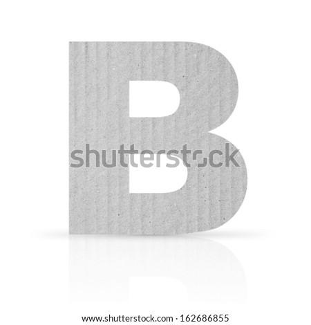 b letter cardboard texture - stock photo