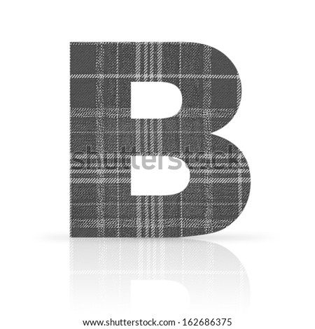 b letter plaid fabfric texture - stock photo