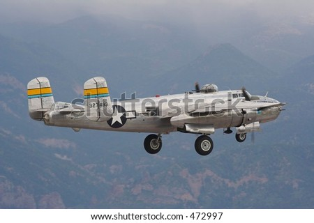 B-25 Mitchel Launch - stock photo