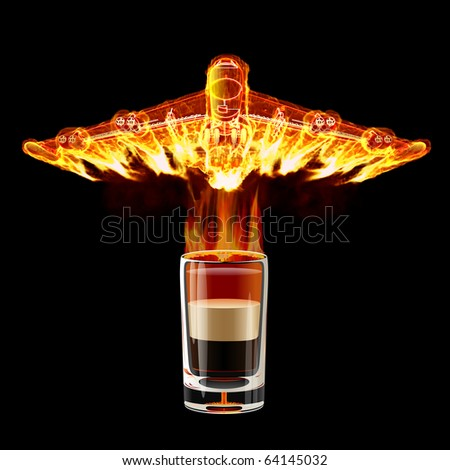 B-52 Shot cocktail - stock photo