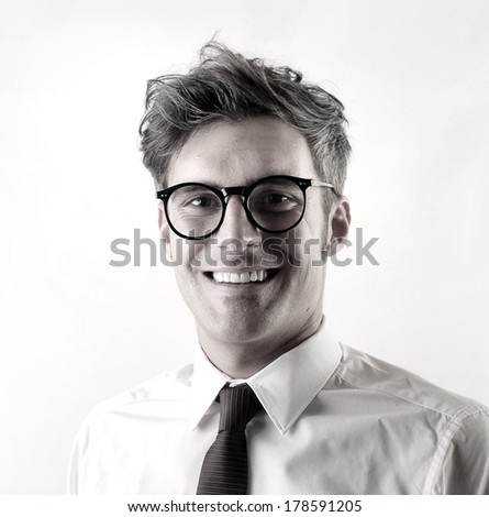 b/w businessman - stock photo