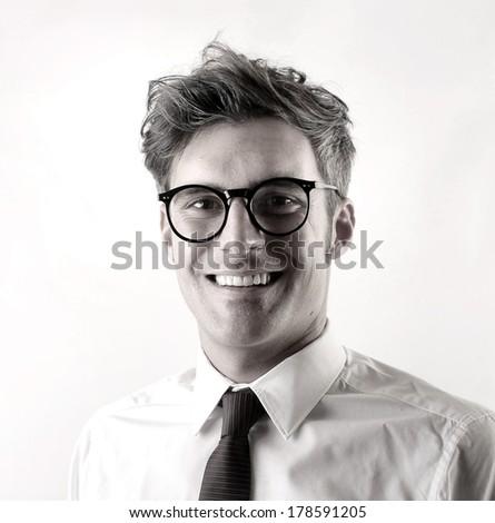 b/w businessman - stock photo