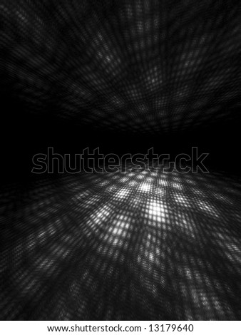 B&W Moire Light Patterns - stock photo