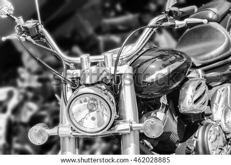 B&W Motorcycle