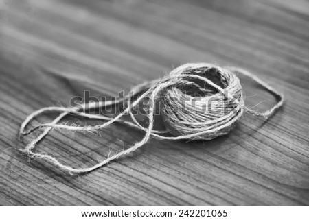 B&W Natural rope - stock photo