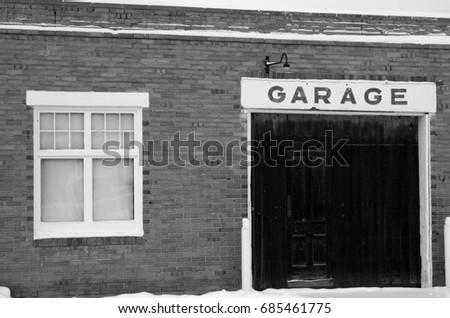 brick garage buildings brick buildings in montana stock images royalty free images