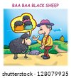 Baa Baa Black Sheep - stock