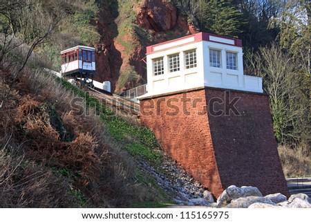 Babbacombe Cliff Railway, Torquay - stock photo