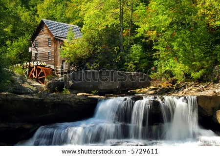 Babcock State park in West Virginia - stock photo