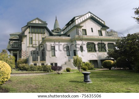 Baburizza palace in Valparaiso, Chile, site of the Fine Arts Museum - stock photo