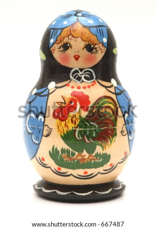 Babushka Doll - stock photo