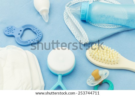 Baby accessories - stock photo