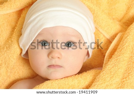 baby after bath â??2 - stock photo