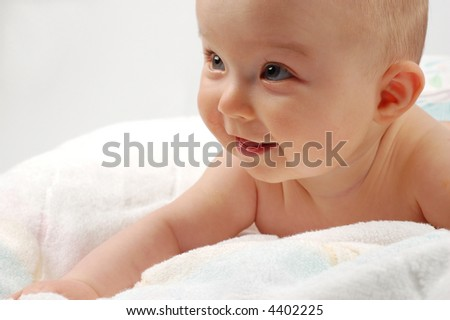 baby after bath #8 - stock photo