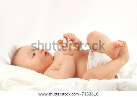 baby after bath #14 - stock photo