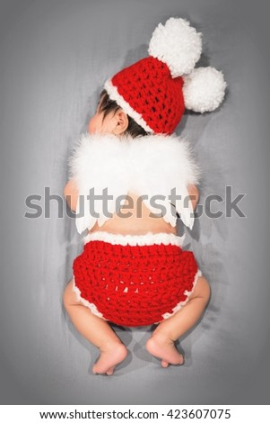 baby angel - stock photo