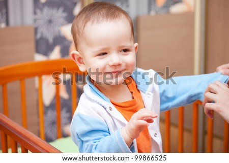 baby at home - stock photo