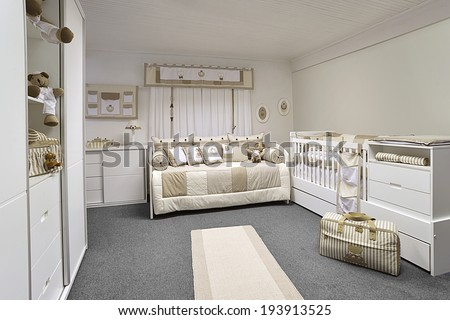 Baby bedroom - stock photo