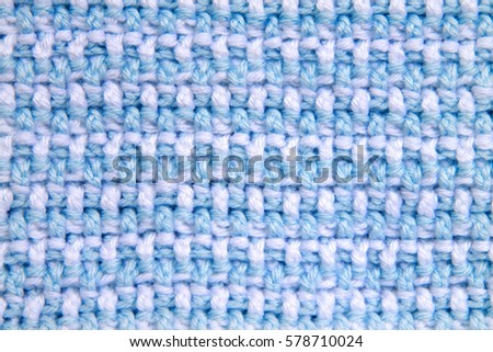 Baby Blanket Close On Crochet Pattern Stock Photo Royalty Free
