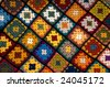 Baby blanket of granny squares - stock photo