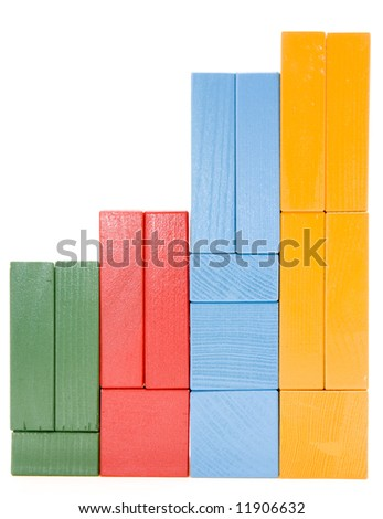Baby blocks figure - stock photo