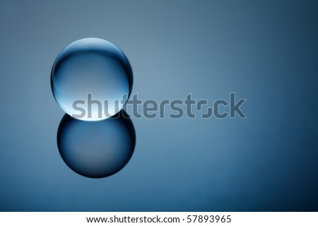 Baby Blue Orb - stock photo
