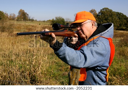 baby-boomer deer hunter - stock photo