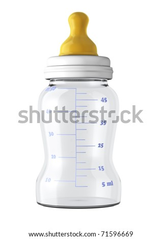 baby bottle isolated on white background - stock photo