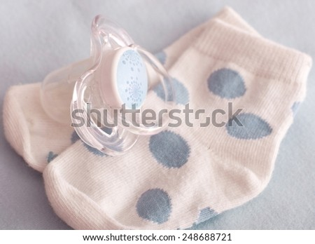 Baby boy colorful clothes - stock photo