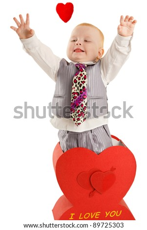 Baby boy is in great heart - stock photo