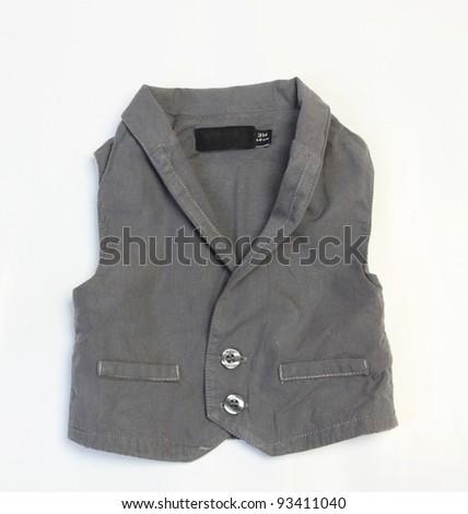 baby boy  jacket isolated on white background - stock photo