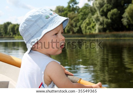 Baby boy on the boat