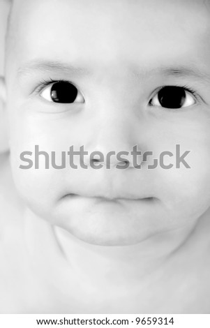 baby boy portrait - stock photo