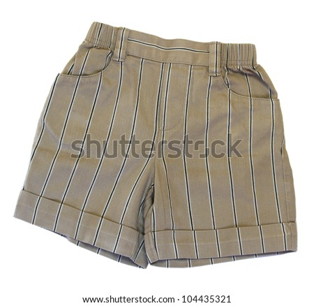 Baby boy's shorts isolated on white background - stock photo
