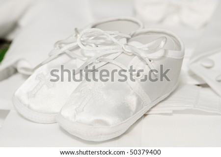 Baby boy shoes - stock photo