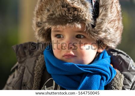 Baby Boy, Soviet Army Style   - stock photo