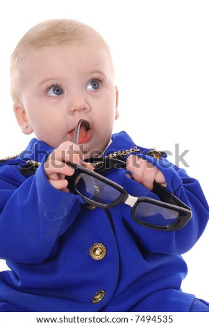 baby business decision - stock photo