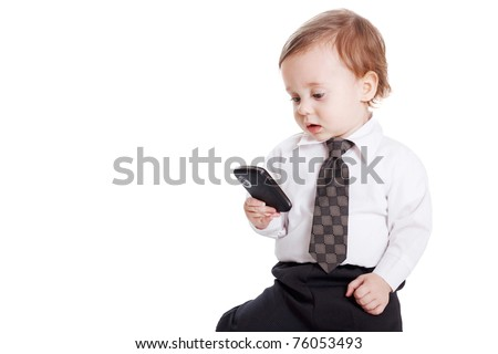 Baby businessman