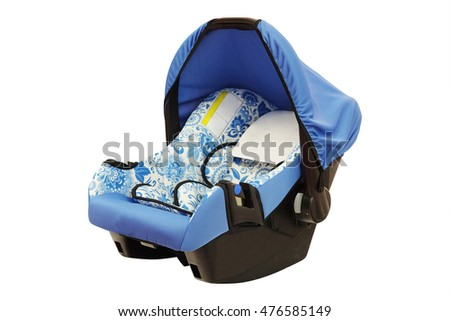 Baby car seat isolated under the white background