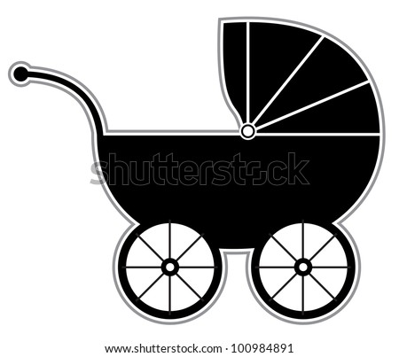 Clip Art Baby Carriage Clipart baby carriage clipart stock photos royalty free images vectors isolated black and white silhouette