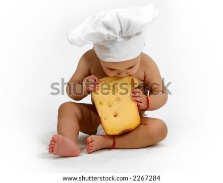 Baby chef - stock photo