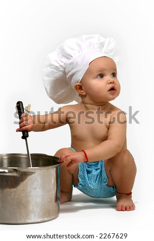 Baby Chef - stock photo