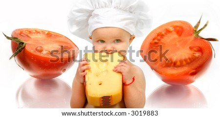 Baby chef - cheese and tomato