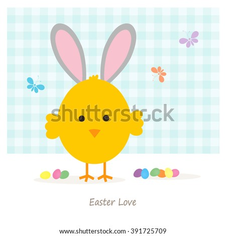 Baby Chick - Easter Love - stock photo