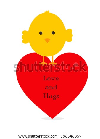 Baby Chick - Love and Hugs - stock photo