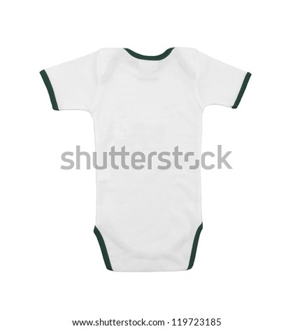 Baby clothes back view isolated on white background - stock photo