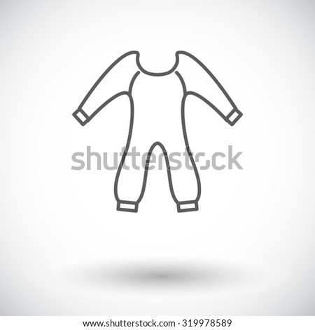 Baby clothes icon. Thin line flat related icon for web and mobile applications. It can be used as - logo, pictogram, icon, infographic element. Illustration.  - stock photo