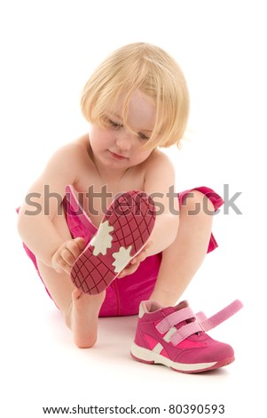 Baby clothes, on white background. - stock photo