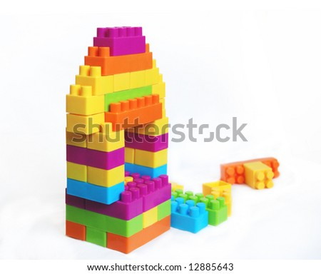 baby constructor - stock photo